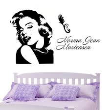 Marilyn Monroe Bedroom by Sketch Marilyn Monroe Diy Art Wall Stickers For Living Room