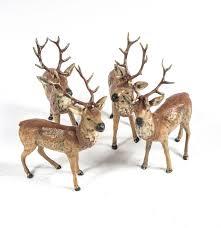 of vintage german painted lead reindeer figurines ebth