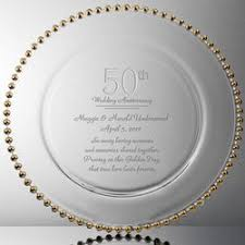 50th anniversary plate personalized anniversary gift guide findgift