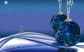 blue christmas ornaments and christmas tree full hd wallpaper and