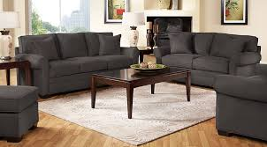 2 Sofas In Living Room by Cindy Crawford Home Bellingham Slate 2 Pc Living Room Living