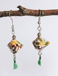 origami earrings bijoux origami boucles d oreille origami géométriques washi