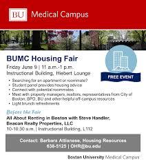 Boston University Campus Map by Bumc Housing Fair June 9 Graduate Medical Sciences Blog