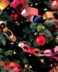 recycled ribbon chain garland ideas christmas tree garland and