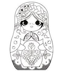 free russian doll coloring www coloring pages adults