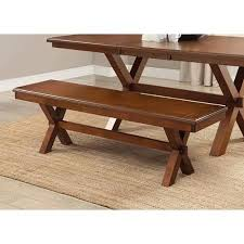 excellent raine rustic lodge oak black dining bench 75w within