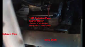 1997 daihatsu pyzar gran move starter motor location youtube