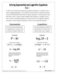 in order to solve exponential equations and logarithm equations it is
