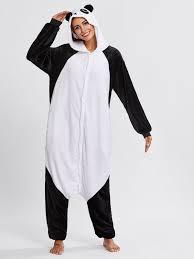 pj jumpsuit drop crotch panda pj jumpsuit shein sheinside