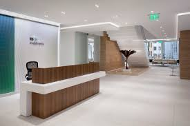 Modern Office Reception Desk by Rs Investments Office By Huntsman Architectural Group Office