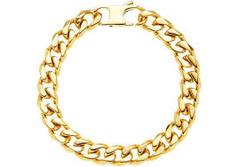 stainless steel gold plated bracelet images Mens gold plated stainless steel cuban link chain bracelet jpg