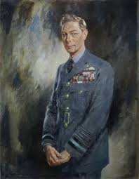 portrait of king george vi half length standing in his raf