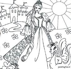 barbie princess printable coloring pages coloring