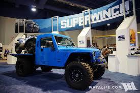 jeep wrangler pickup 2017 sema superwinch frankenbrute jeep tj wrangler pickup