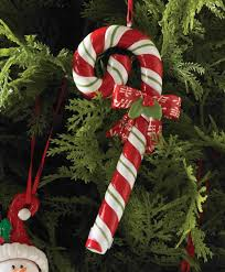 candy cane with bow christmas tree ornaments tree classics