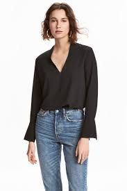 the shoulder black blouse shirts blouses shop the trends h m ca