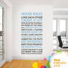 rules of home design house rules wall sticker design by vinil impression 29 99