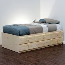 Building A Platform Bed Frame With Drawers by Extra Long Twin Storage Bed Pine Wood Craft Storage Storage