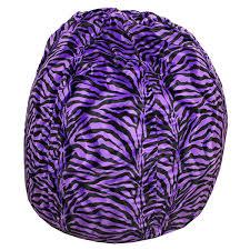 purple zebra bean bag chair thebeanbagchairoutlet com