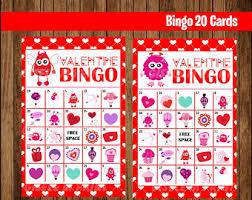 valentine bingo etsy