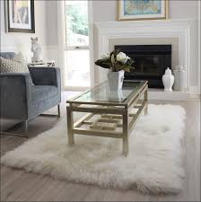 furniture magnificent small white faux fur rug white soft fluffy