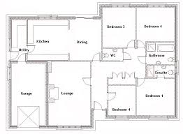 Floor Plan Of 4 Bedroom House 4 Bedroom House Plans Bungalow Design Ideas 2017 2018