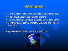 cover letters that knock em dead a first look at cover letters