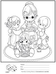 kids coloring page grandma precious moments ginormasource kids