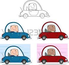 bureau d ude automobile office manager character rides in the car businessman flat