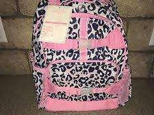 Pottery Barn Mackenzie Backpack Review Pottery Barn Kids Mackenzie Pink Navy Cheetah Classic Lunch Bag Ebay