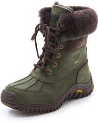 ugg s adirondack boot ii leather ugg adirondack boots in green lyst
