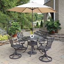 Floral Print Patio Umbrellas by Home Styles Largo 42 In 5 Piece Patio Dining Set With Umbrella
