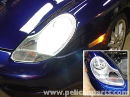 porsche headlights at night porsche 911 carrera litronic headlamp installation 996 1998