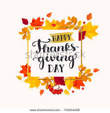 happy thanksgiving day banner autumn leaves stock vector 715504408