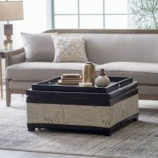 coffee table round upholstered coffee table collection in large