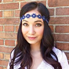hippie flower headbands blue flower headband flower crown hippie from sawu awesome