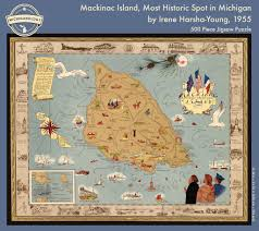 map of mackinac island mackinac island most historic spot in michigan puzzle michiganology