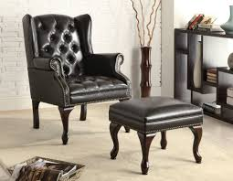 Accent Chair With Ottoman Accent Chair Ottoman Black Furniture