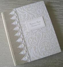 8x10 wedding photo album white and ivory flocked wedding photo album with beaded lace