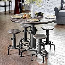 round counter height table set foskey antique black finish counter height table set shop for