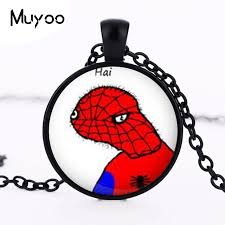 Meme Dolan - 2016 hot sale meme necklace spoderman pendant dolan jewelry
