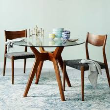jensen round glass dining table west elm uk