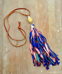 tassel necklace make images How to make fabric tassel necklaces made in a day jpg
