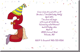 3 year old birthday party invitation wording oxsvitation com