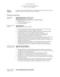 Objective Examples Resume by Resume Examples Security Resume Objective Examples Tactical