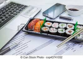 dejeuner bureau boîte déjeuner bureau boîte déjeuner sushi manger photos