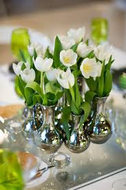 flower arrangements home decor birthday party table decorations centerpieces white tulips spring