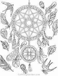 free printable dreamcatcher coloring download