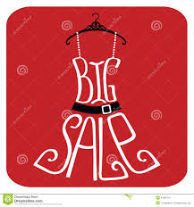 silhouette of dress from words big sale stock vector image 41682741