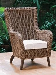 high back wicker arm chair foter